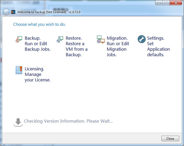 虚拟机备份软件Xackup截图1