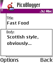 PicoBlogger手机博客Beta截图1