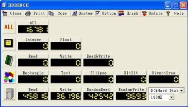 电脑硬件测试软件(HDBENCH)