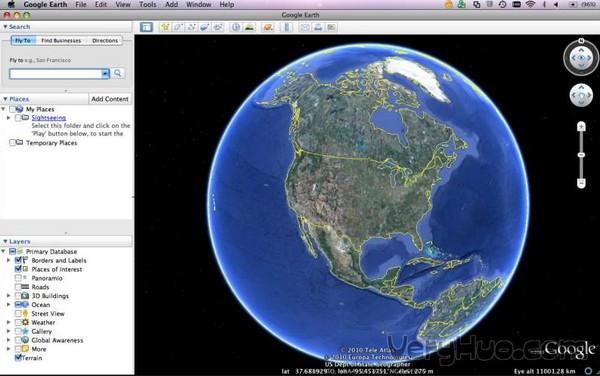 Google Earth谷歌地球 for Mac截图