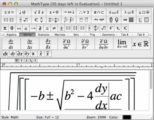MathType数学公式编辑器 mac版截图1