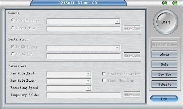 光盘复制软件(321Soft Clone CD)截图