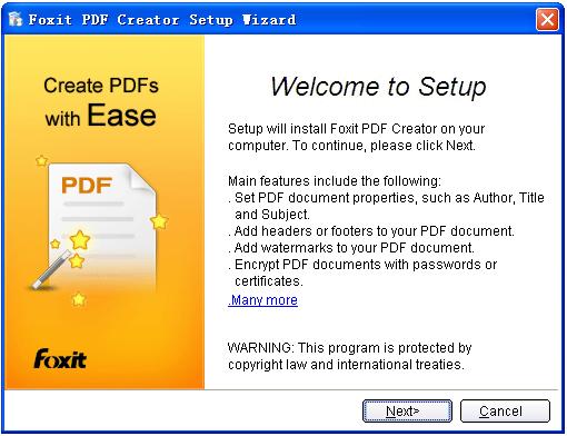 Foxit PDF Creator64