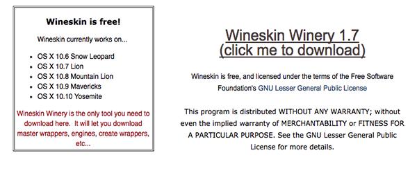 Wineskin for mac