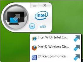 英特尔Wireless Display(WiDi)无线显示软件截图