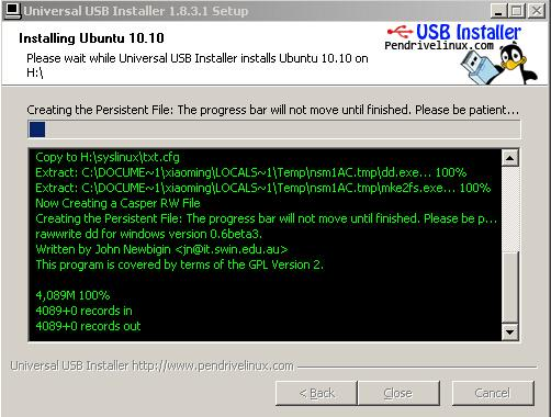 Universal USB Installer截图