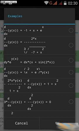 微分方程計算器(Differential Equations)