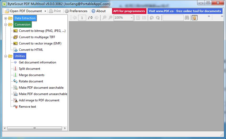 ByteScout PDF Multitool截图