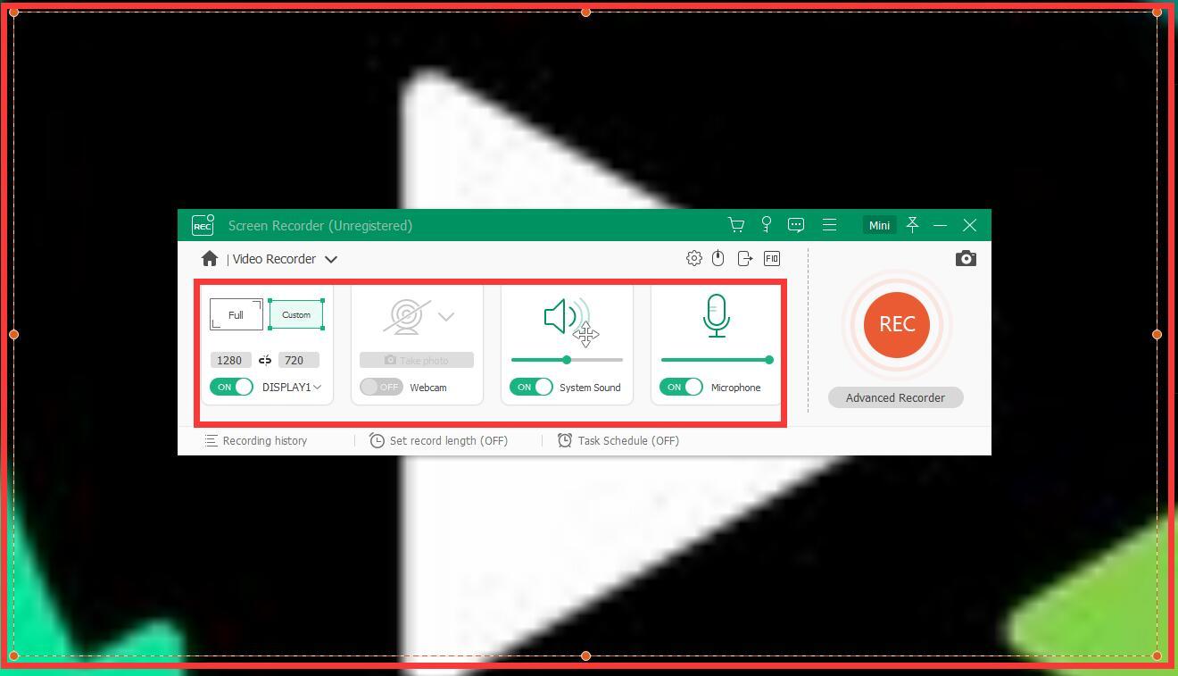 Apeaksoft Screen Recorder截图