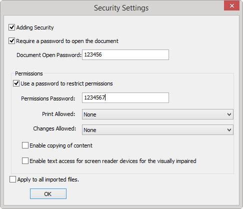 Lighten PDF Security Manager截图