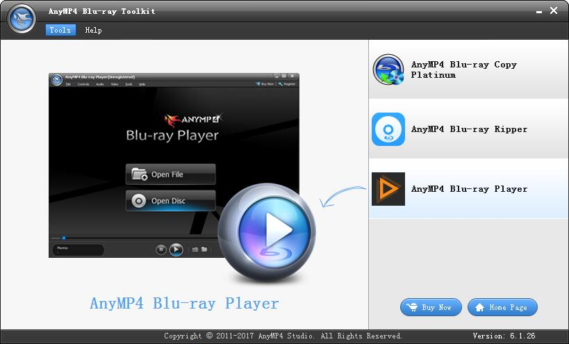 AnyMP4 Blu-ray Toolkit截图