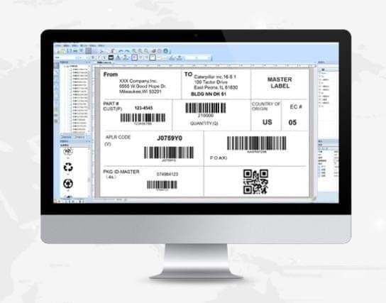 易打标条码标签打印软件截图
