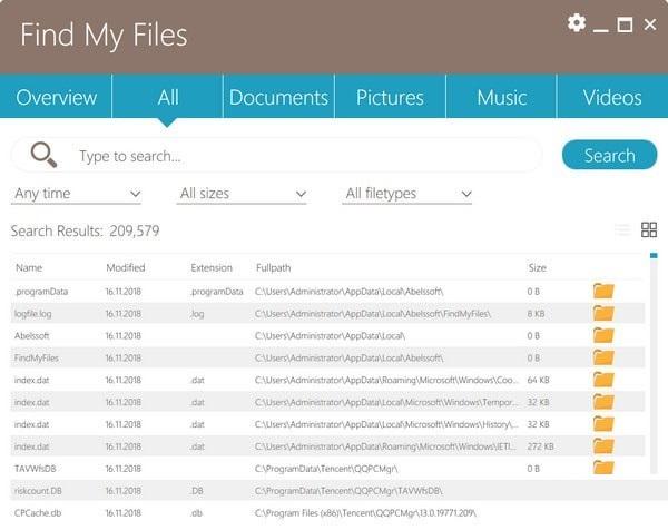 Find My Files截图