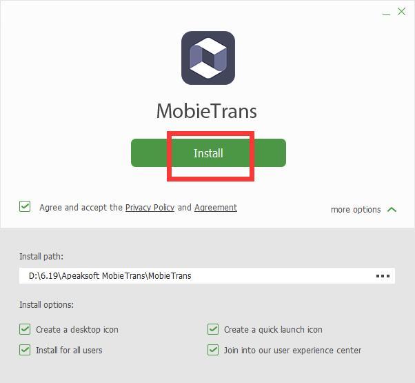 Apeaksoft MobieTrans