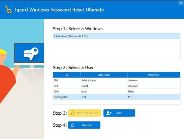 Tipard Windows Password Reset截图