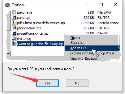 hfs网络文件服务器截图