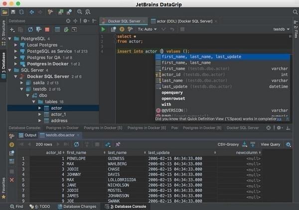 JetBrains DataGrip截图