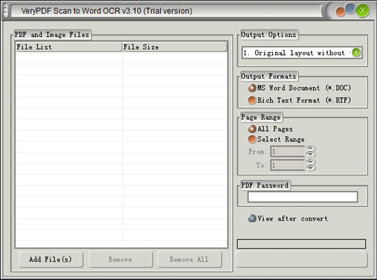 VeryPDF Scan to Word OCR Converter