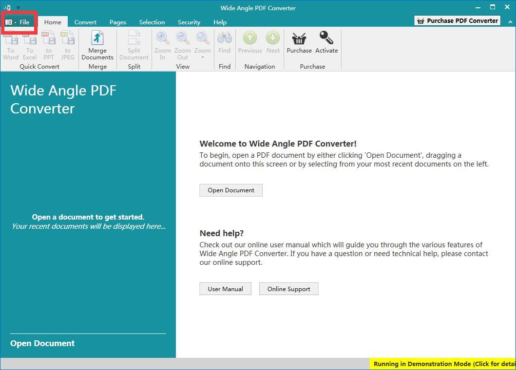 Wide Angle PDF Converter截图