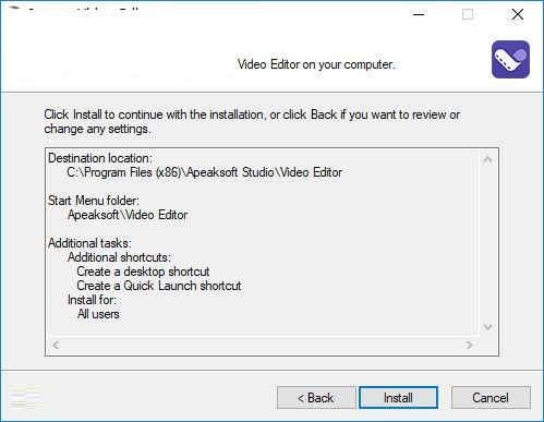 Apeaksoft Video Editor截图