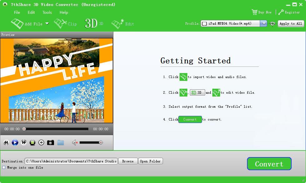 7thShare 3D Video Converter