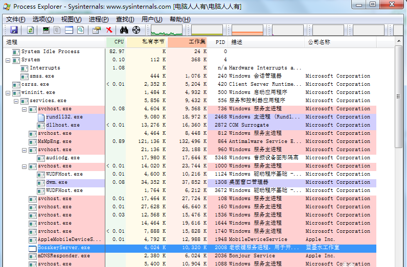 Process Explorer截图