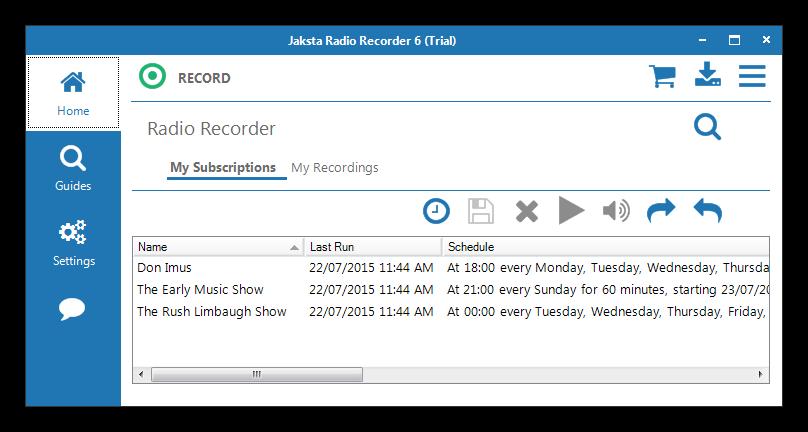 Jaksta Radio Recorder截图