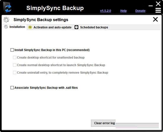 SimplySync Backup截图