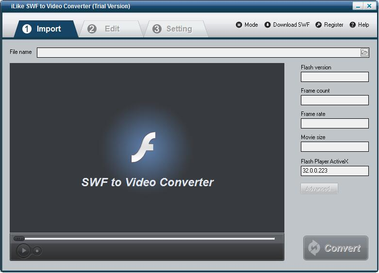 iLike SWF to Video Converter截图