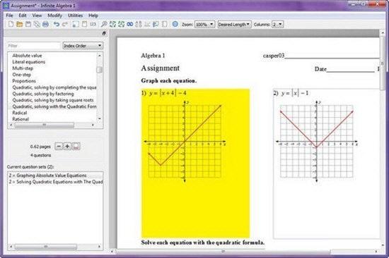 Infinite Algebra1截图