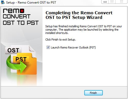 Remo Convert OST to PST截图