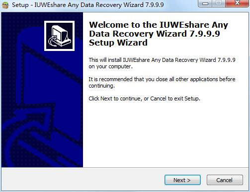 IUWEshare Any Data Recovery Wizard截图