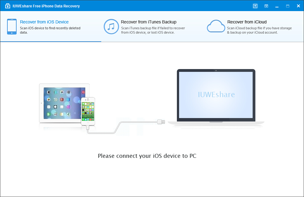 IUWEshare Free iPhone Data Recovery