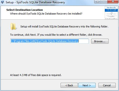 SysTools SQLite Database Recovery截图
