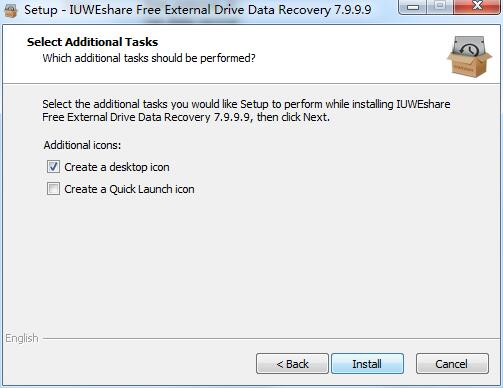 IUWEshare Free External Drive Data Recovery截图