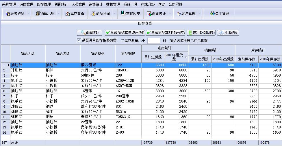 商品销售管理软件截图