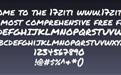 permanent字体