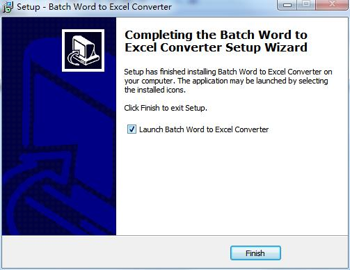 Batch DOC TO XLS Converter截图