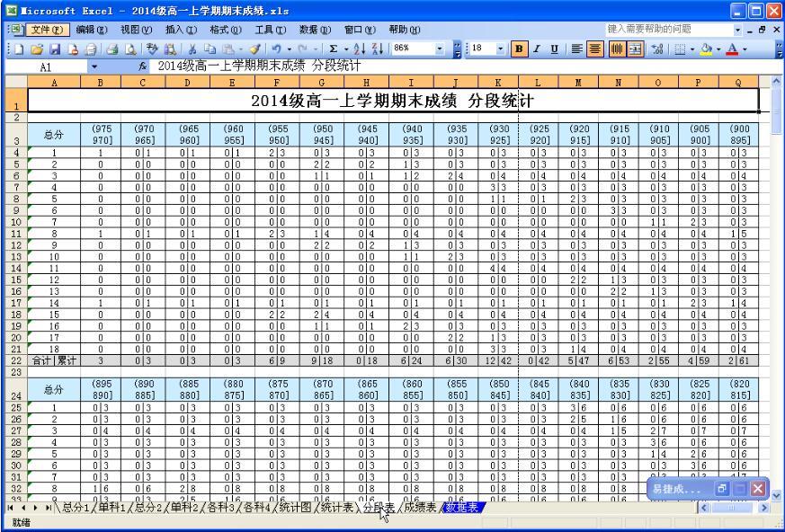 易捷成绩分析系统截图