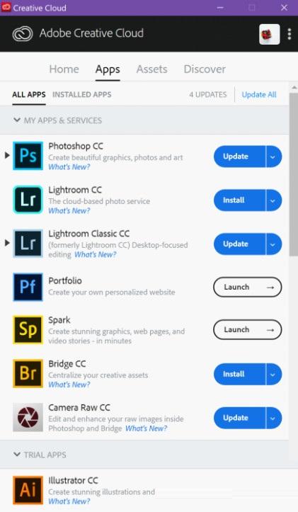 Adobe Creative Cloud 2020截图