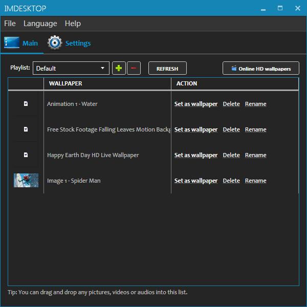 imDesktop(多动态壁纸设置工具)截图