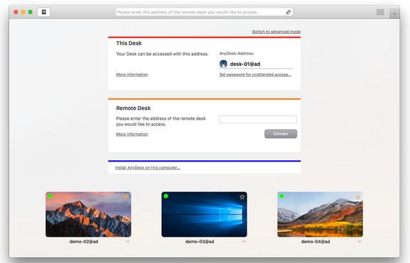 AnyDesk Mac版截图