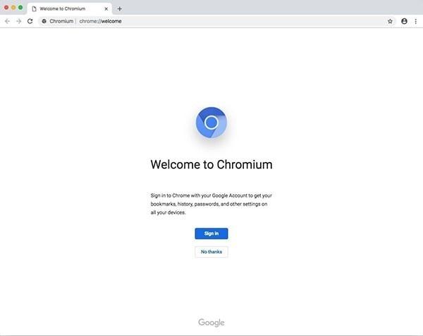 Chromium浏览器Mac版截图