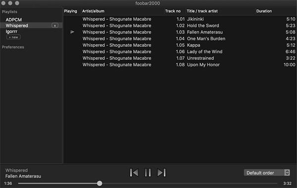 foobar2000 for Mac截图