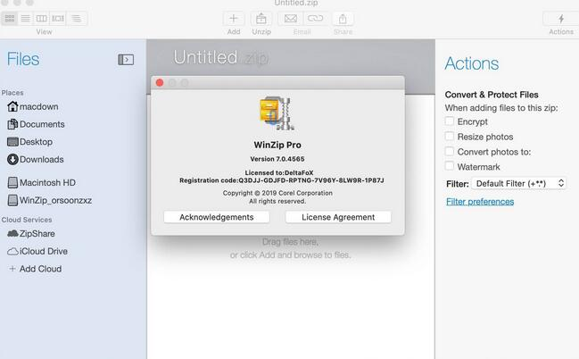 WinZip Mac Pro截图
