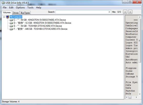 USB Drive Info