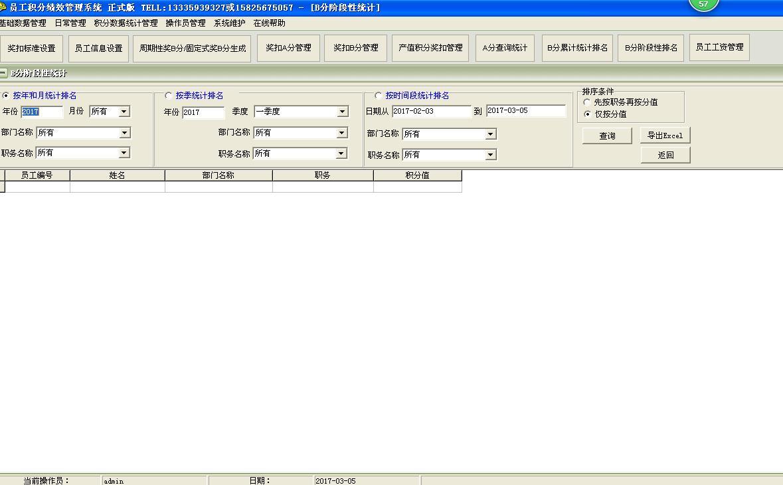 员工积分绩效考核管理系统软件截图2