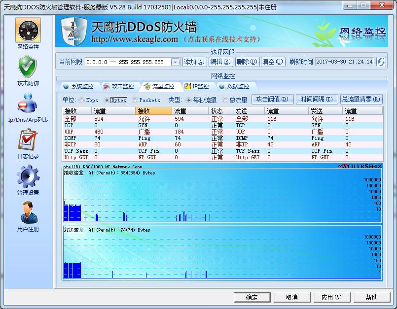 天鹰抗DDoS防火墙截图1