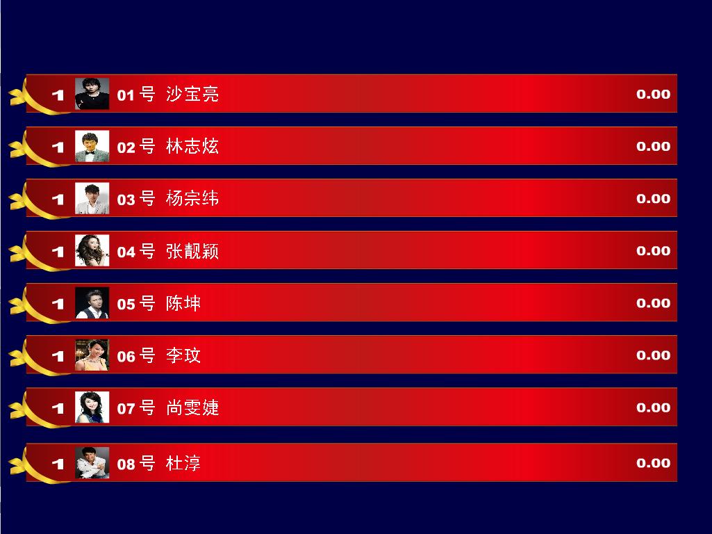 比赛打分展示双屏管理系统截图2