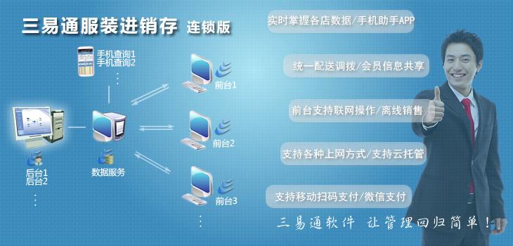 三易通服装连锁进销存系统截图2